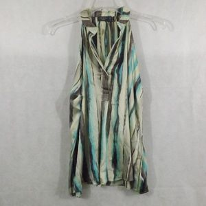 Womens COSTA BLANCA Tank Top - Teal/Cream - Sz S